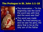 the prologue in st john 1 1 18