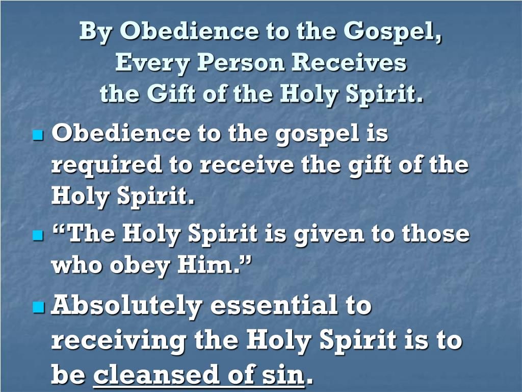 By Obedience to the Gospel,