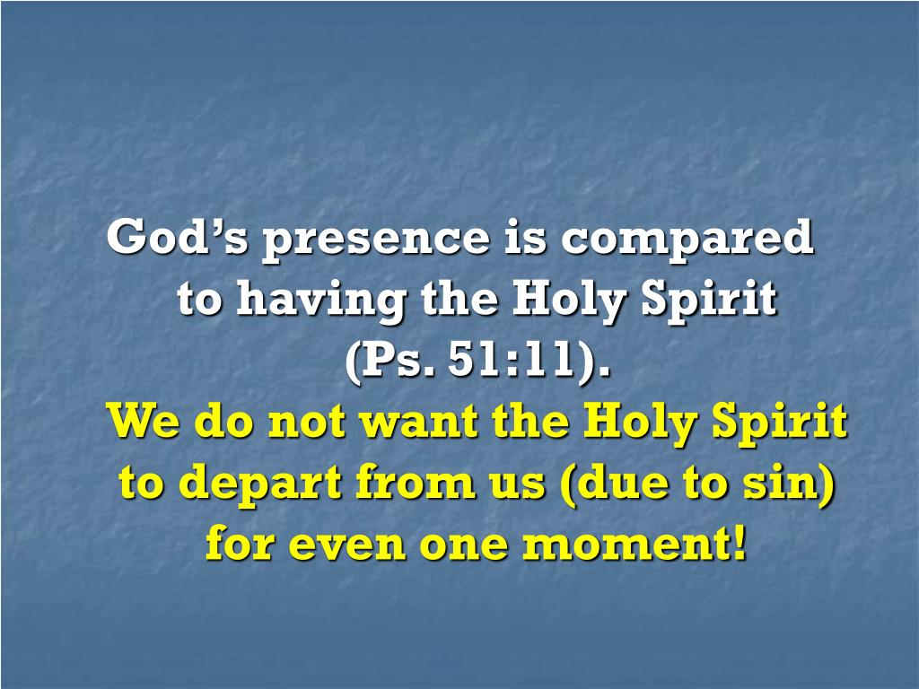God's presence is compared