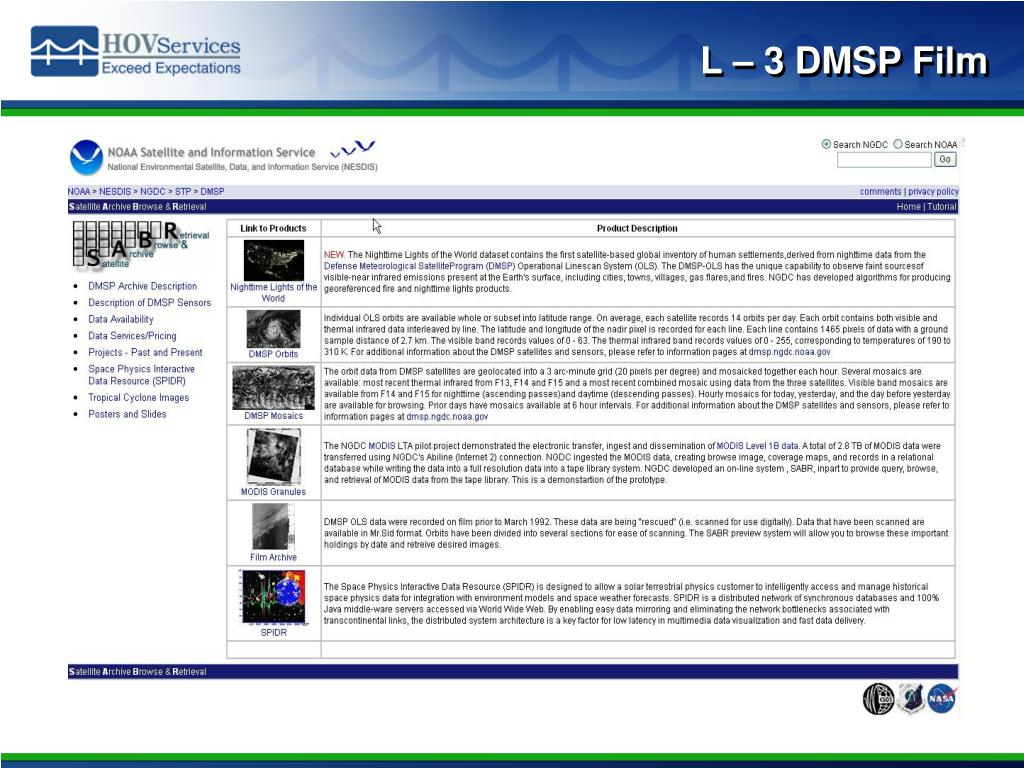 L – 3 DMSP Film