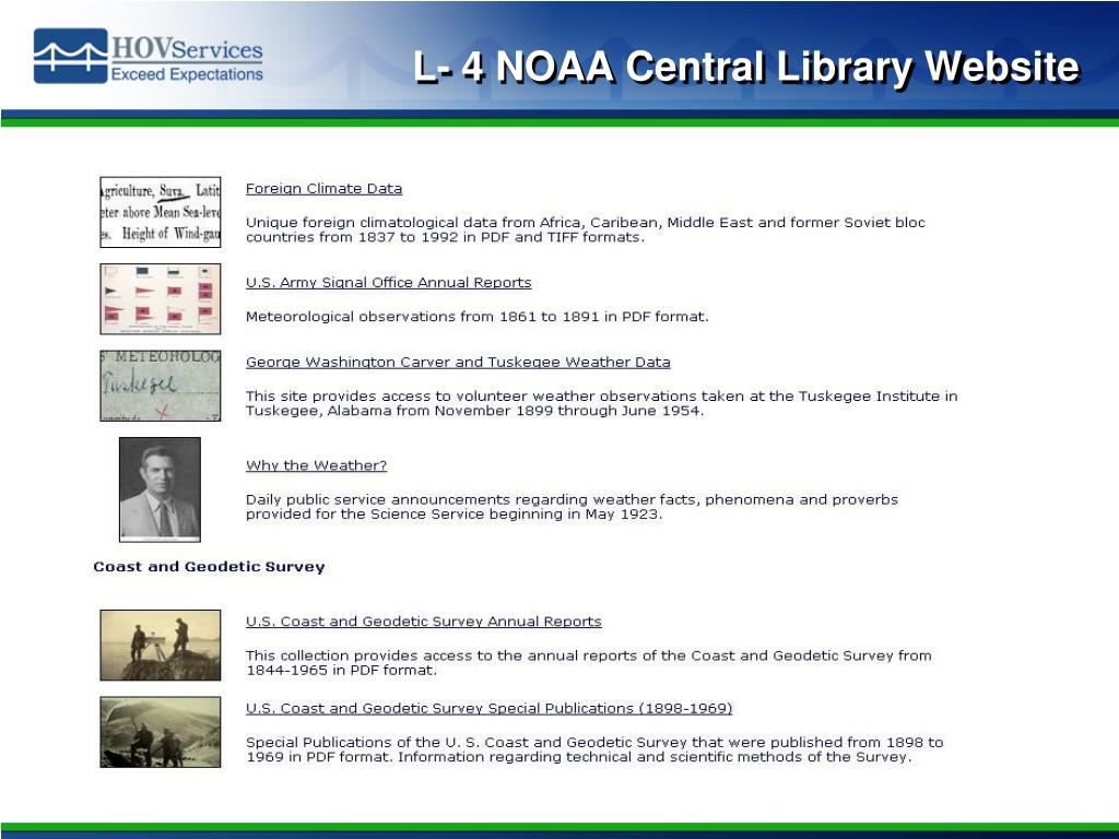 L- 4 NOAA Central Library Website