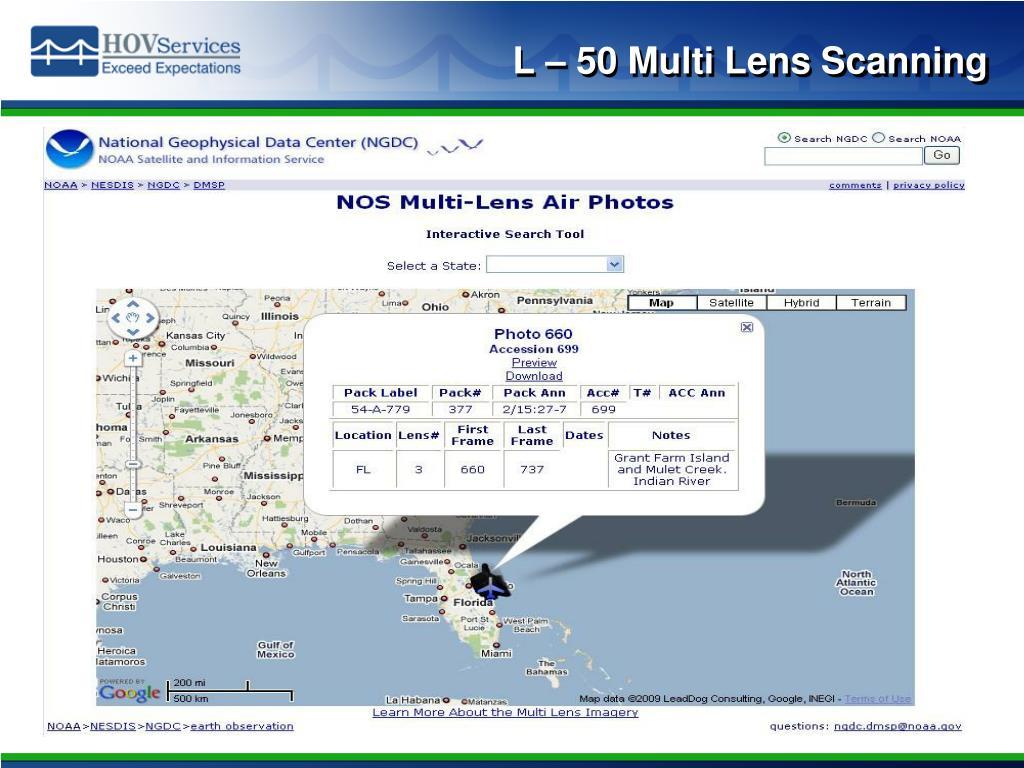 L – 50 Multi Lens Scanning