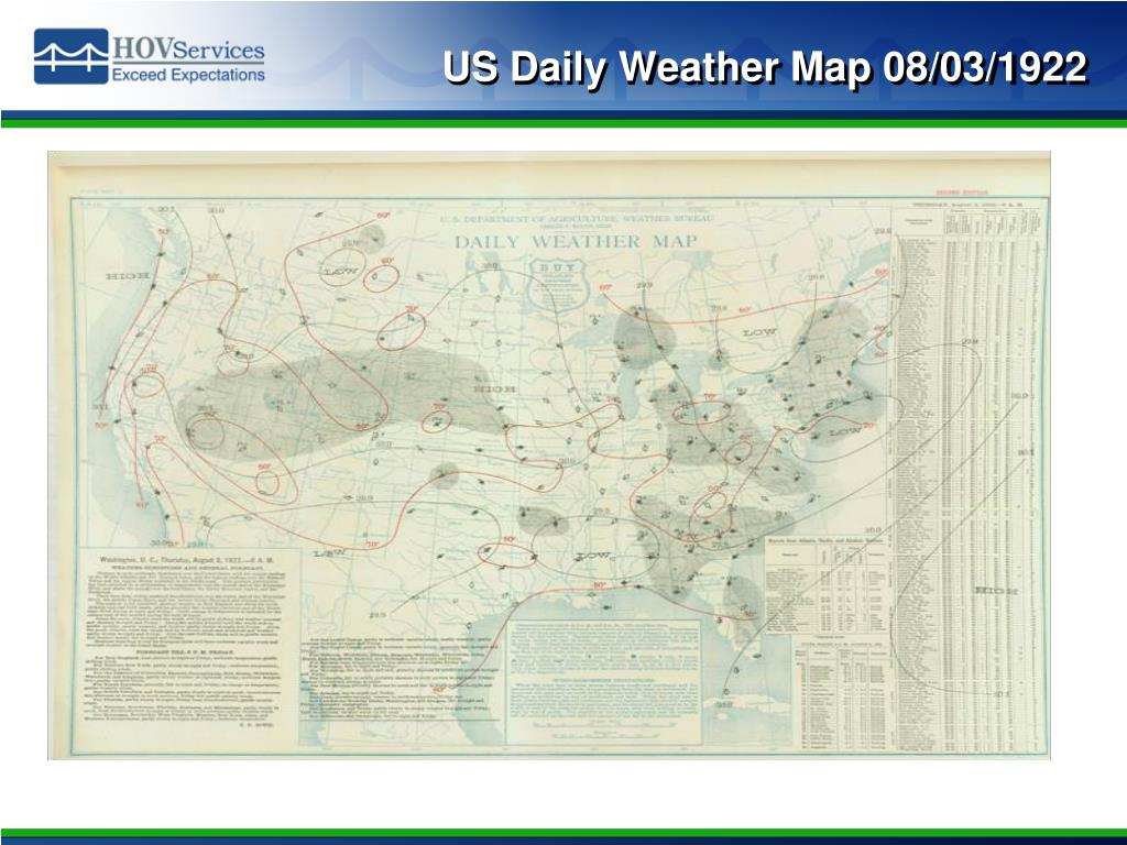 US Daily Weather Map 08/03/1922