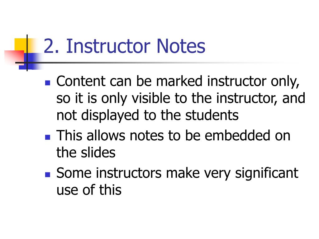 2. Instructor Notes