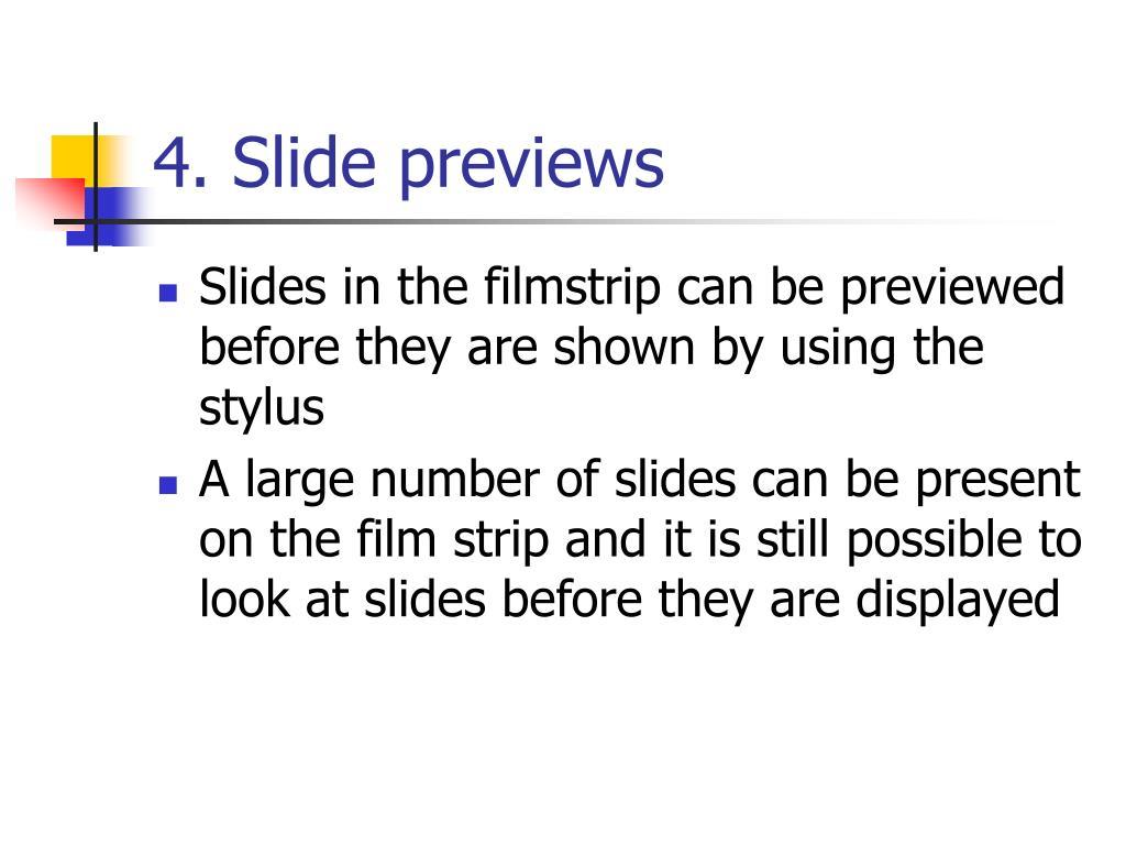 4. Slide previews