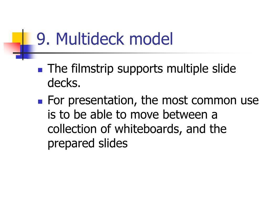 9. Multideck model