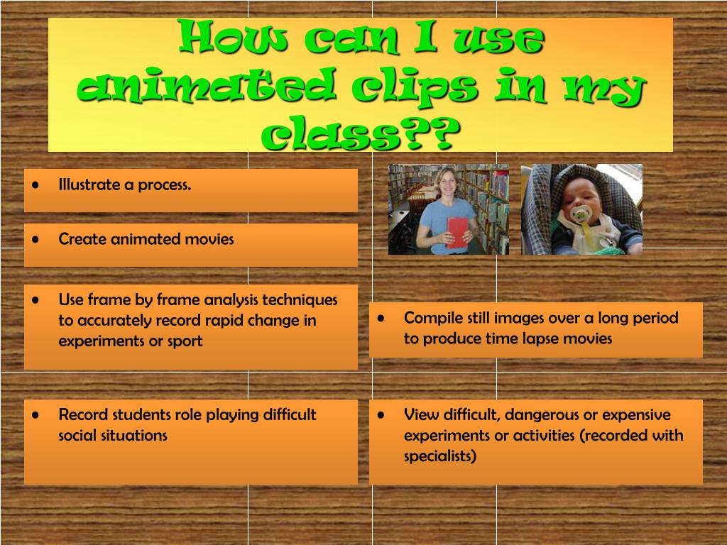 How can I use animated clips in my class??