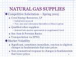 natural gas supplies