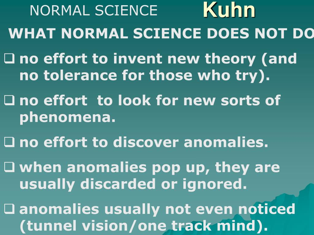 kuhn's theory of scientific development Kuhn's theory of science centers on the thesis that the development of a scientific  discipline typically occurs according to the following open structure.