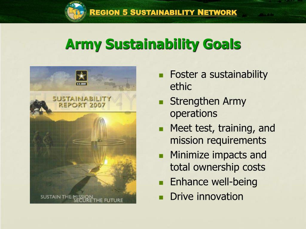 Army Sustainability Goals