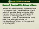 region 5 sustainability network vision