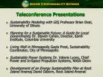 teleconference presentations