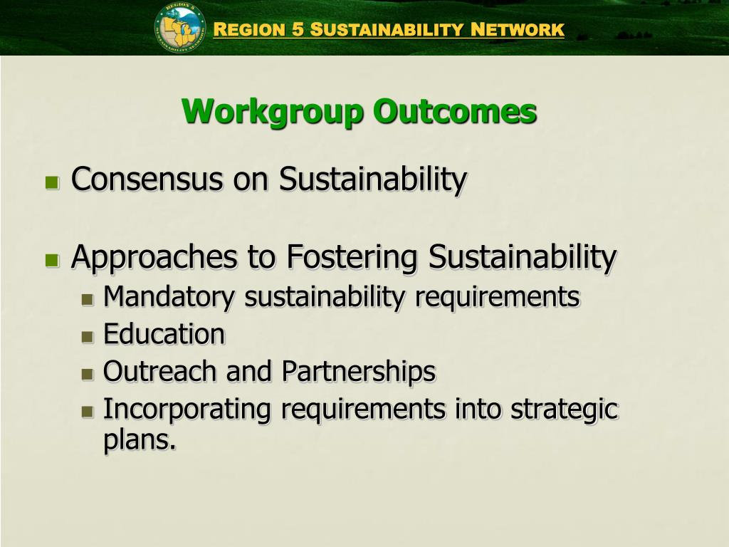 Workgroup Outcomes