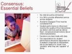 consensus essential beliefs