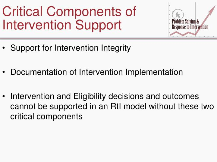 Critical Components of Intervention Support