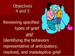 objectives 4 and 5