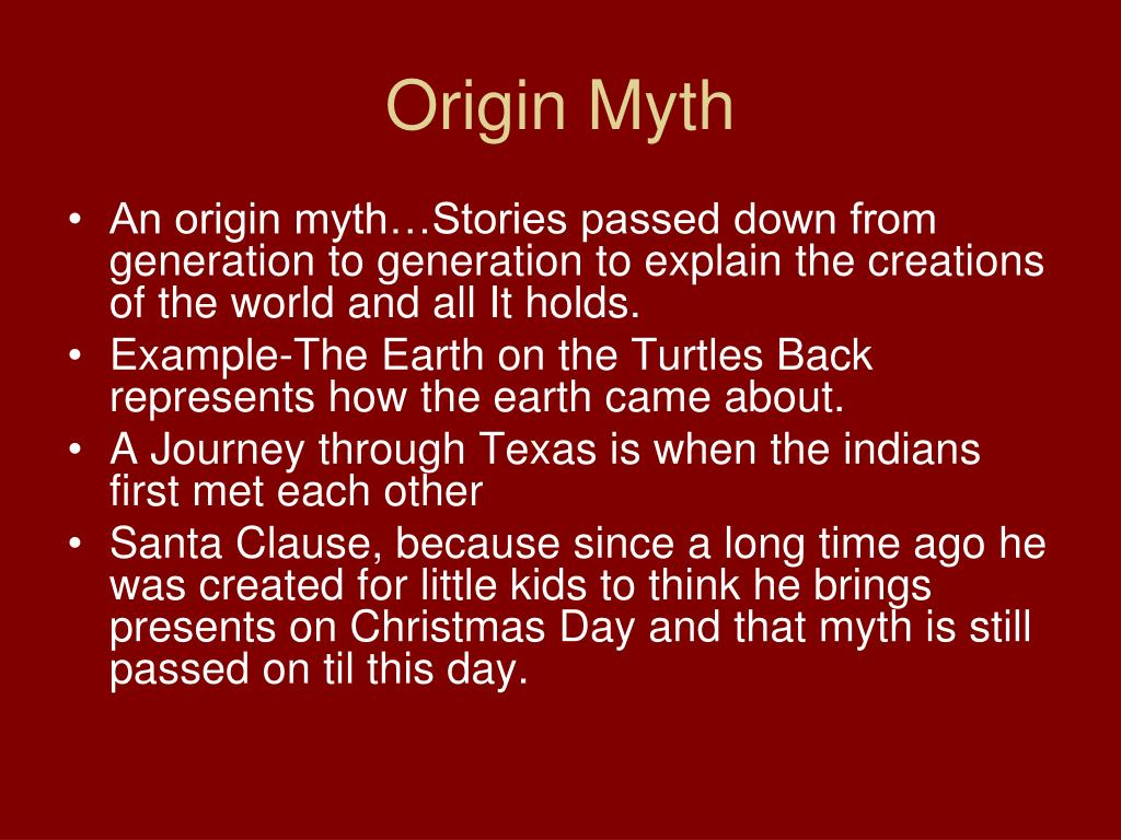 Origin Myth