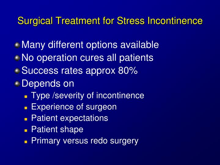 Ppt Urinary Incontinence For Medical Students Powerpoint