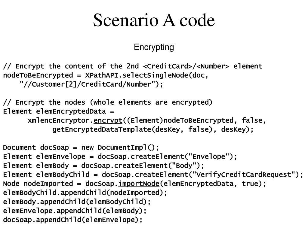 Scenario A code