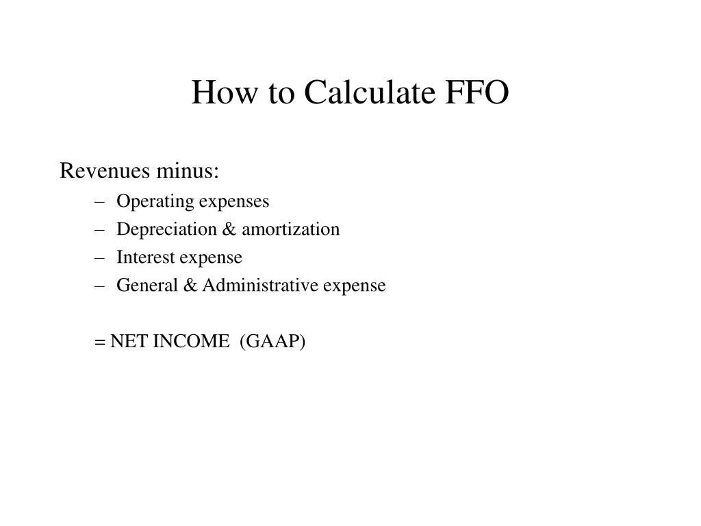How to Calculate FFO