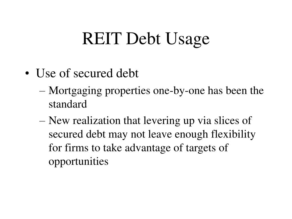 REIT Debt Usage