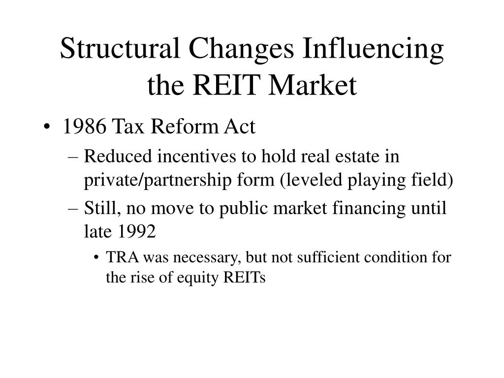 Structural Changes Influencing the REIT Market