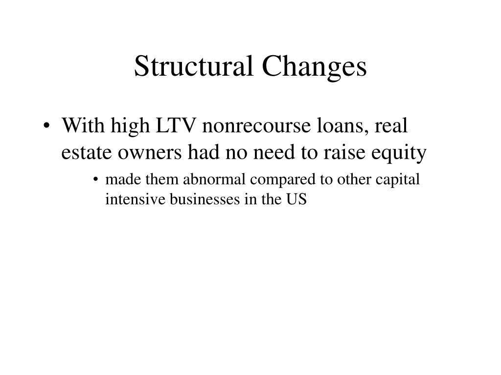 Structural Changes