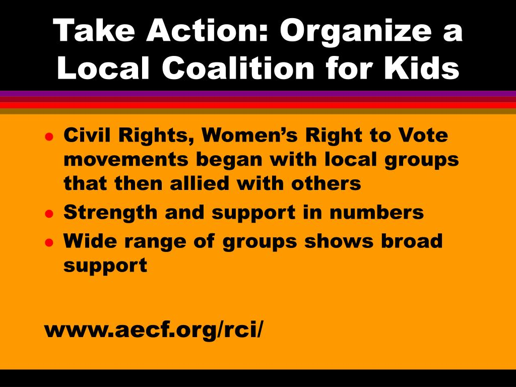 Take Action: Organize a Local Coalition for Kids