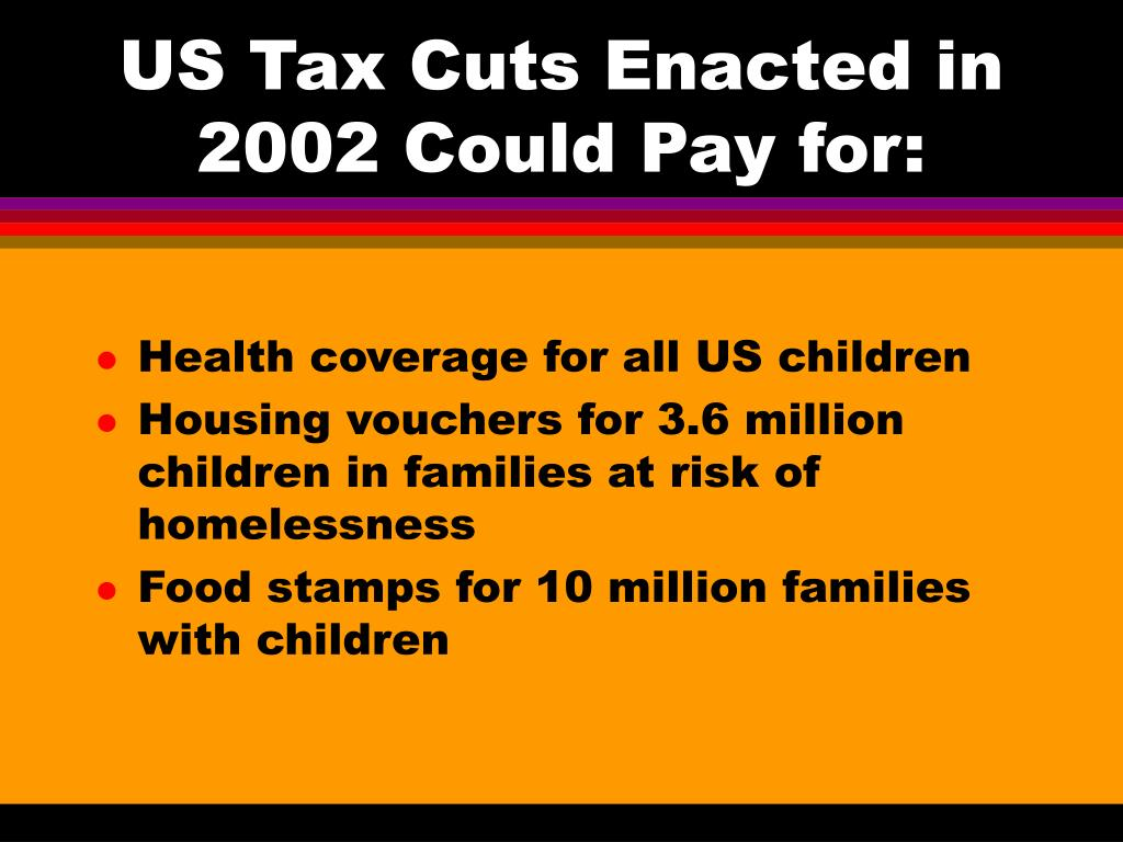 US Tax Cuts Enacted in 2002 Could Pay for: