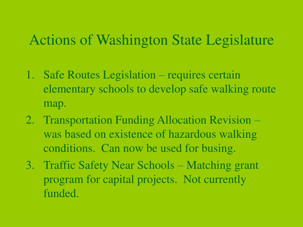 Actions of Washington State Legislature