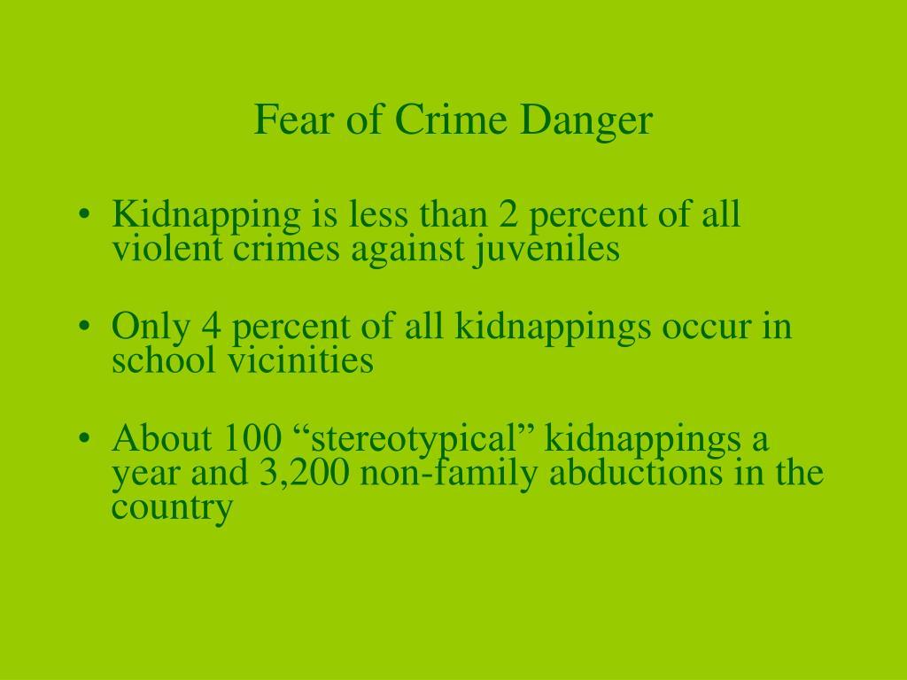 Fear of Crime Danger