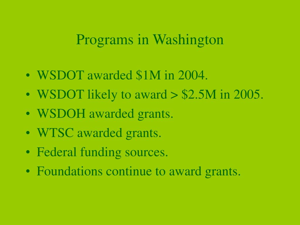 Programs in Washington