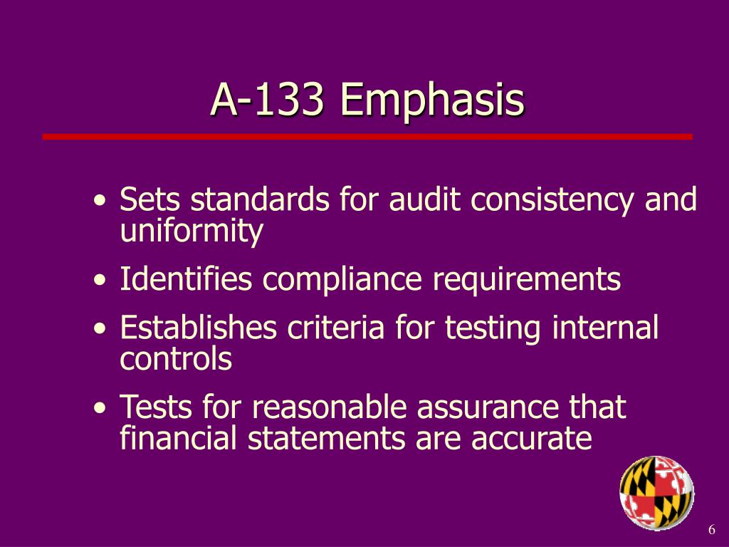 A-133 Emphasis
