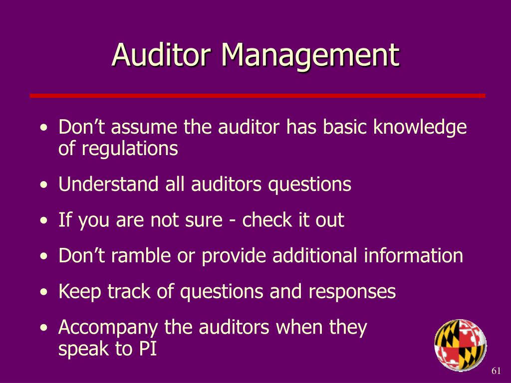 Auditor Management