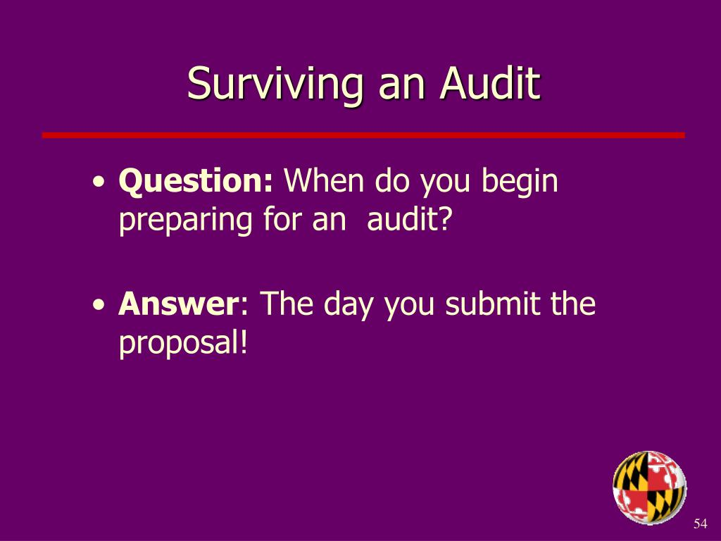 Surviving an Audit