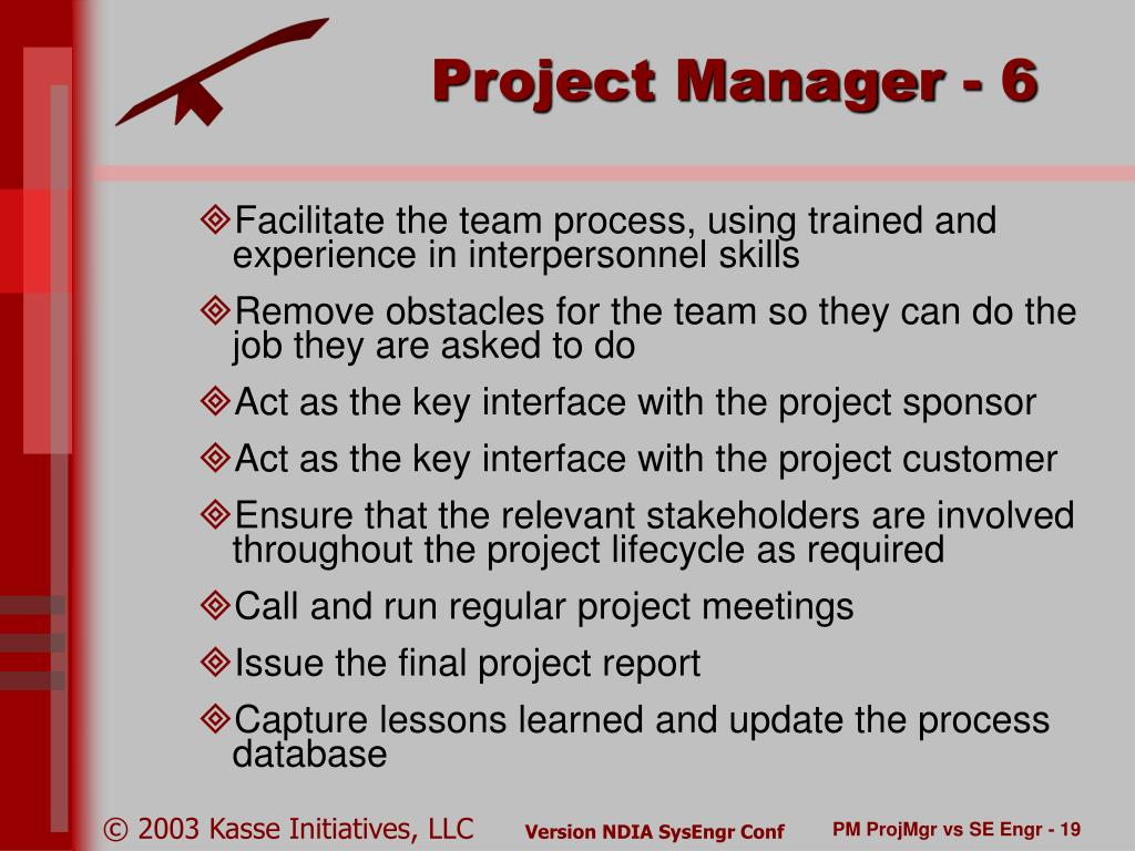 The Project Manager/Customer Interface
