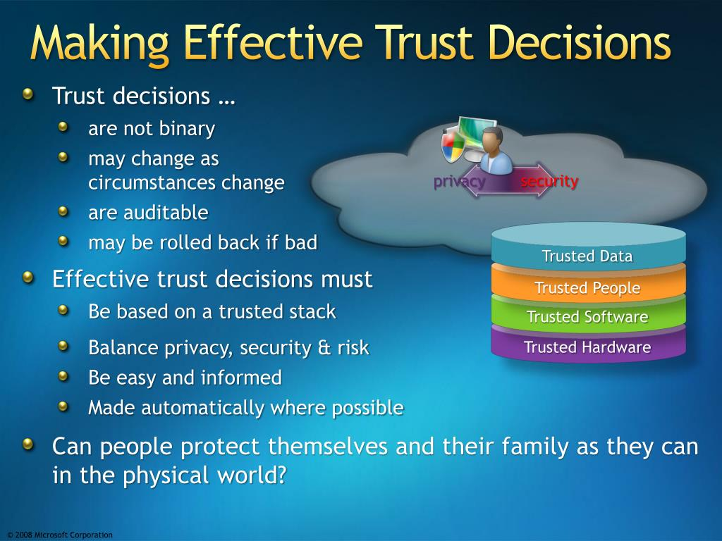 Making Effective Trust Decisions