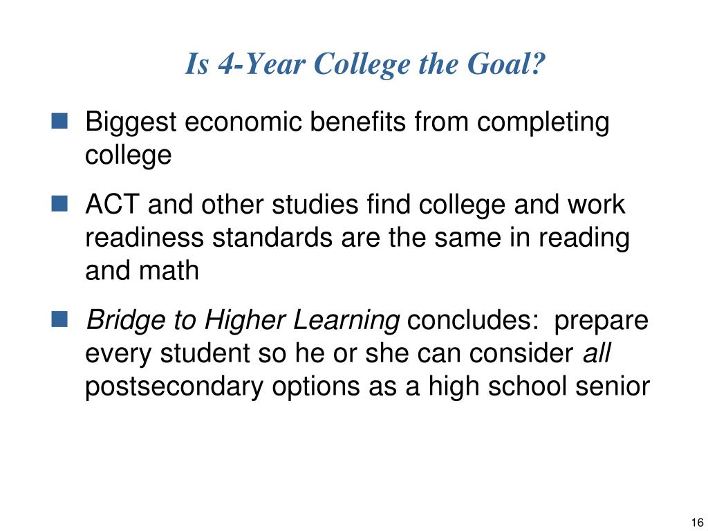 Is 4-Year College the Goal?