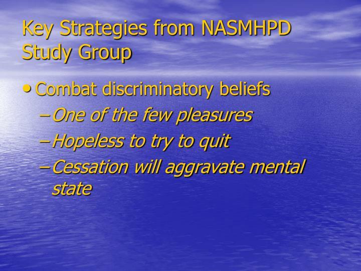 Key Strategies from NASMHPD Study Group