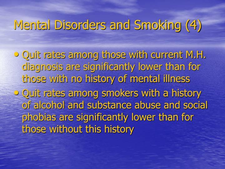Mental Disorders and Smoking (4)