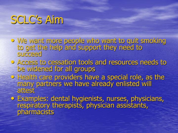 SCLC's Aim