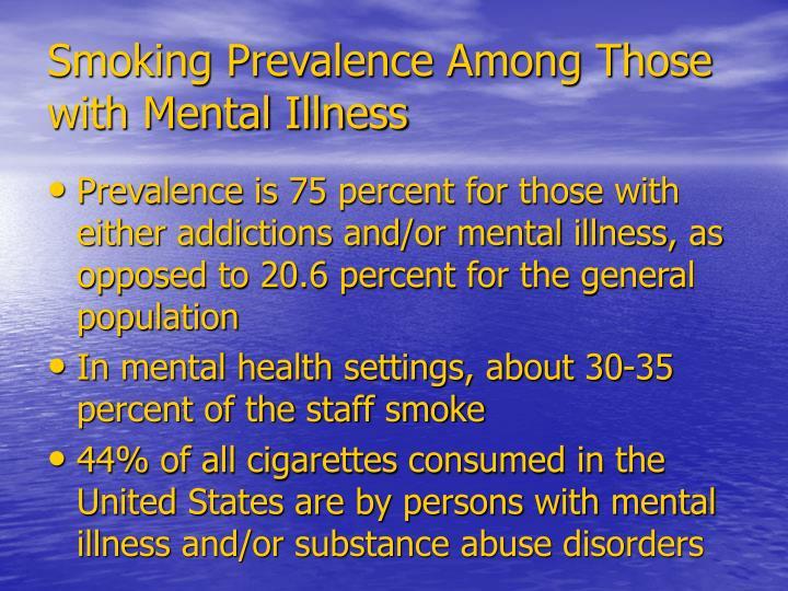 Smoking Prevalence Among Those with Mental Illness