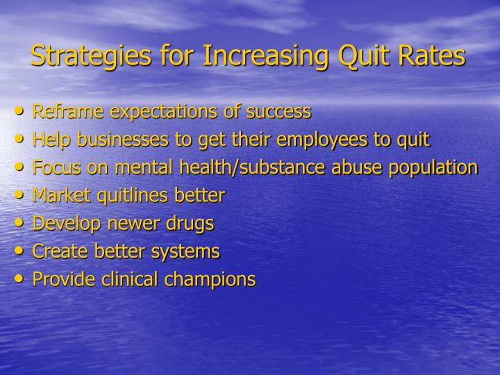 Strategies for Increasing Quit Rates