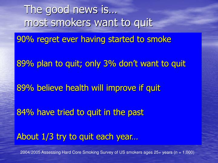 The good news is…
