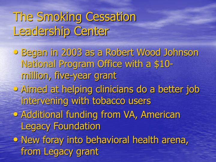 The Smoking Cessation