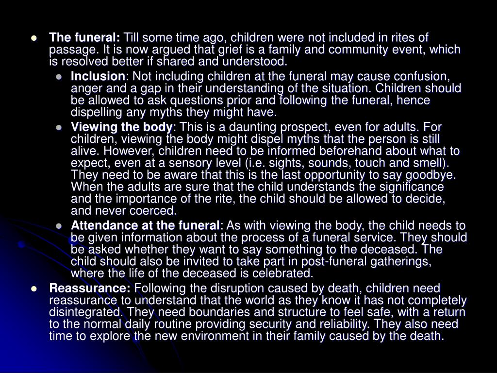 The funeral: