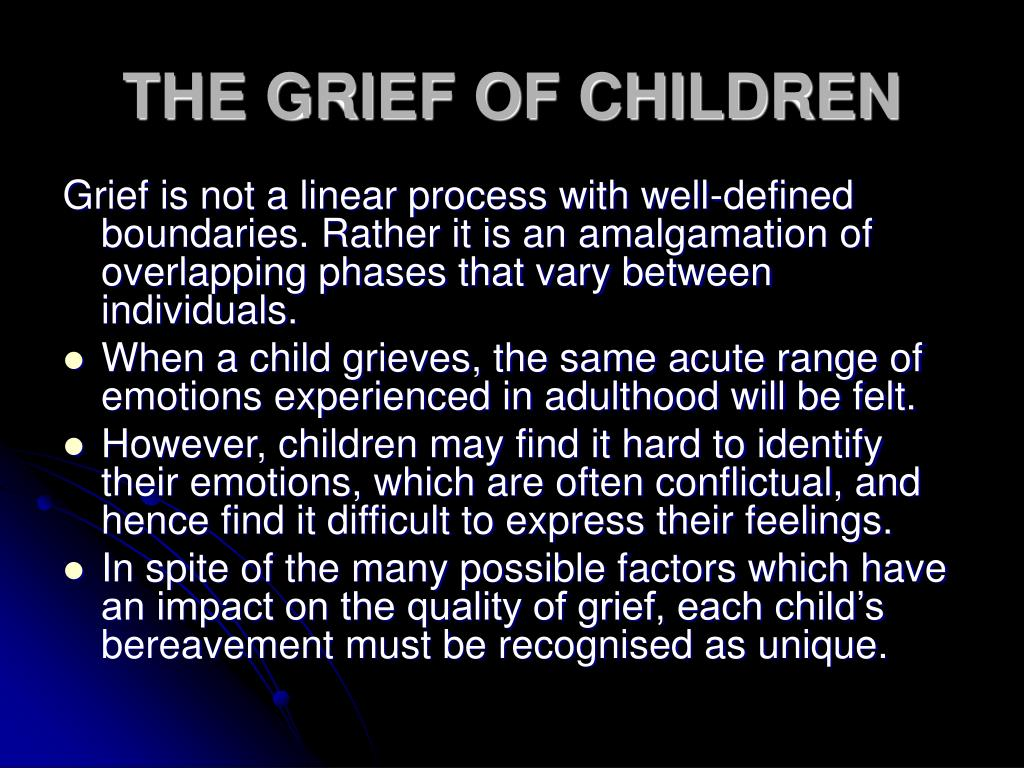 THE GRIEF OF CHILDREN