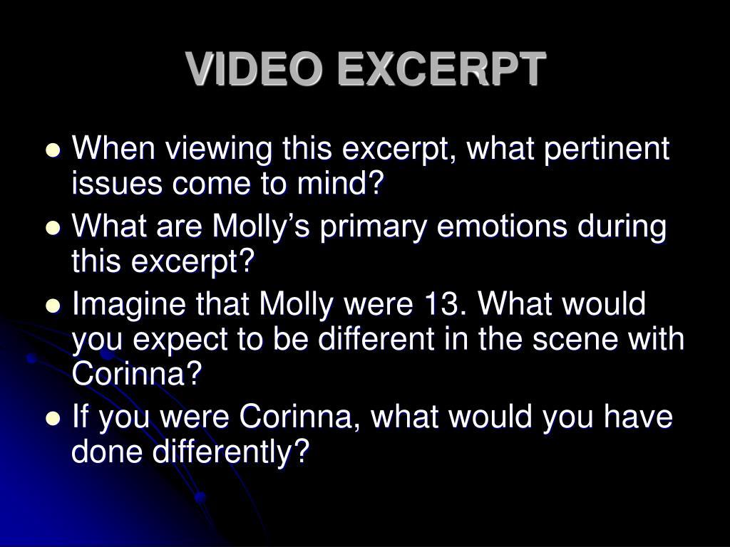 VIDEO EXCERPT