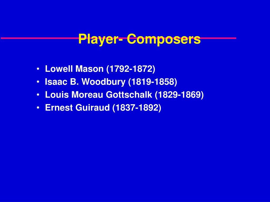 Player- Composers