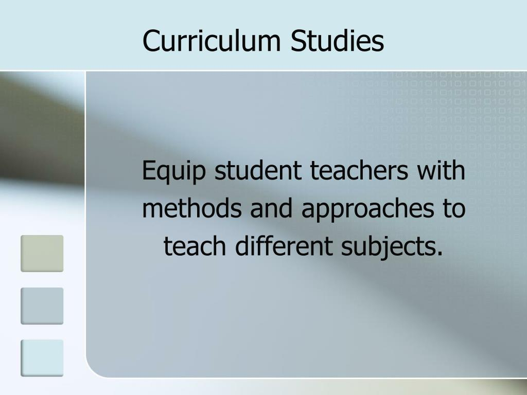 Curriculum Studies